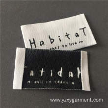 High density woven main label soft edge