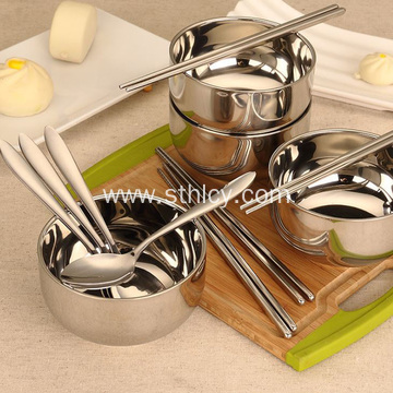 Travel Portable Bowl Spoon Chopsticks Set