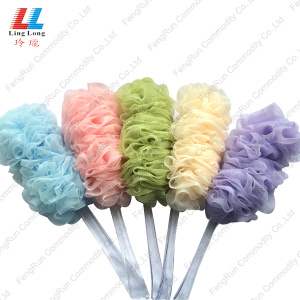 body scrub bath brush sponge with long handle