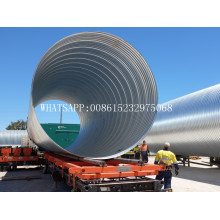 Strong steel metal spiral corrugated pipe machine