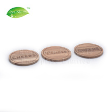 China for Wood Wine Coaster Round Laser Engraved Acacia Wooden Coaster For Drink export to Germany Supplier