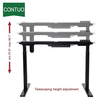Wholesale Price for Adjustable Computer Desk Adjustable Office Desktop Frame For Standing And Sitting export to Djibouti Factory