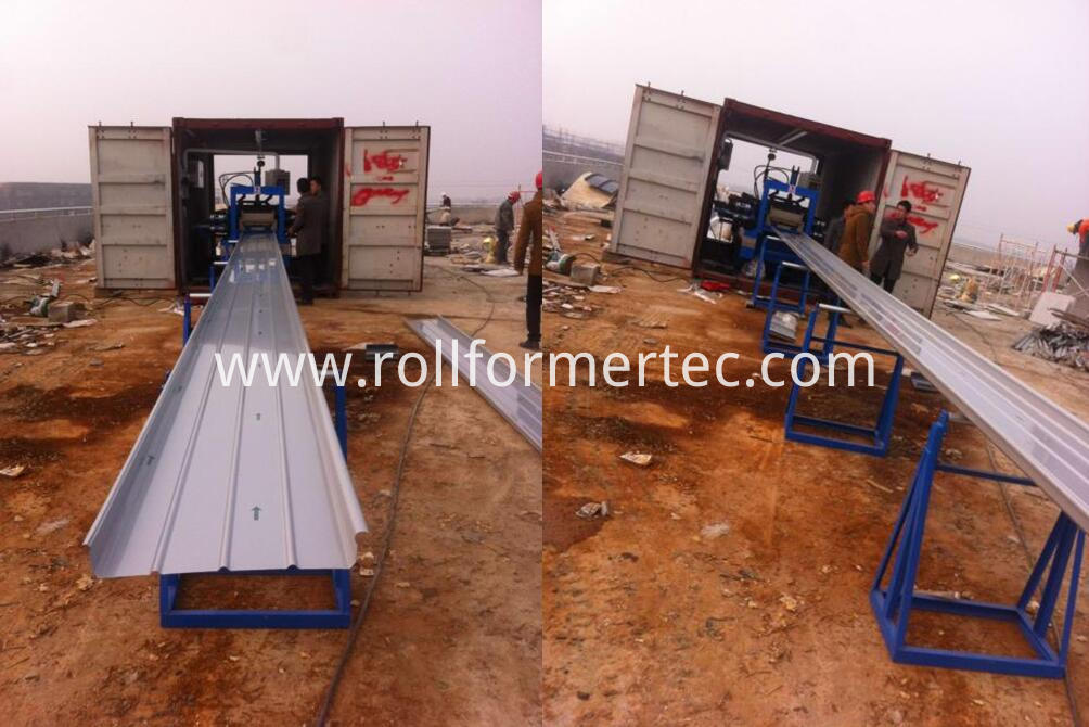 standing seam panel rollfoming line 9