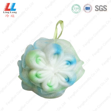 shower puff luffa massage mesh bath pouf sponge