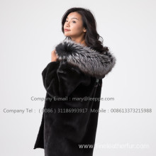 Hooded Kopenhagen Reversible Mink Fur Lady Coat