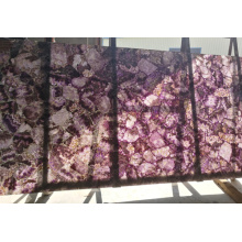 100% Original for Semi Precious Stone Coffee Table amethyst slabs  purple crystal stone export to Russian Federation Manufacturer