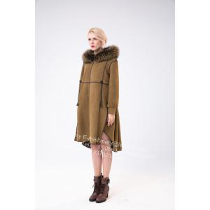 Goods high definition for for Winter Fur Coat Spain Merino Shearling Coat With Motif supply to Portugal Manufacturer