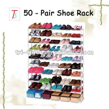 50 Pairs Metal and Plastic Shoe Rack