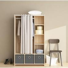 Top for Wood Wardrobe Bedroom Clothes Furniture Wardrobe Closet Storage supply to Netherlands Supplier