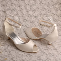 Women's Small Heel Shoes Bride Size 10