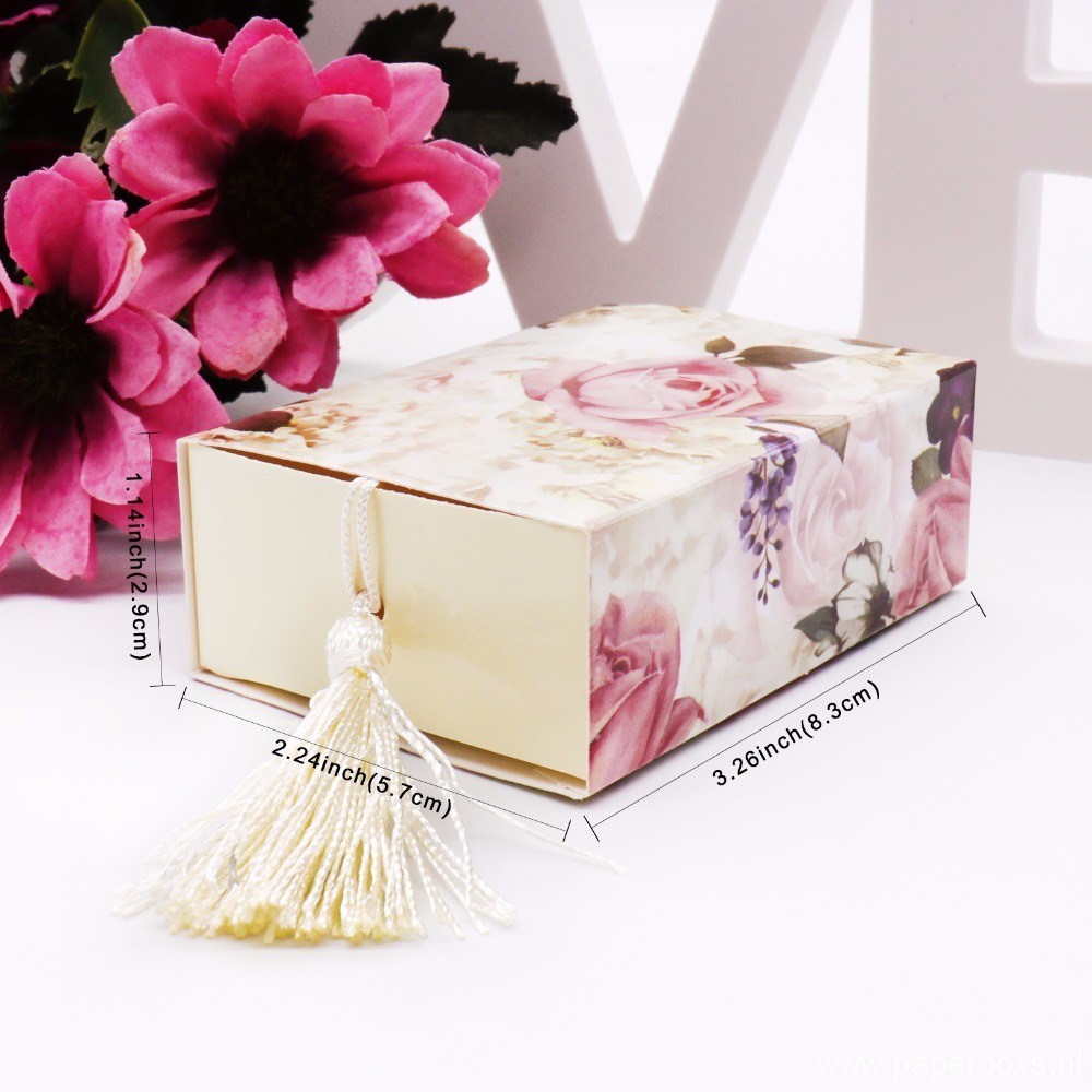 Luxury Flower Pattern Drawer Gift Packing Paper Box
