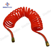 Customized for PU Spiral Air Hose Flexible air brake PU super coil hose pipes export to Indonesia Factory
