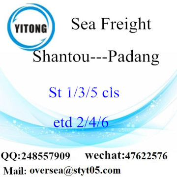 Shantou Port LCL Consolidation To Padang