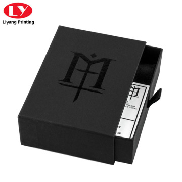 Luxury Drawer Matte Black Wallet Box Packaging