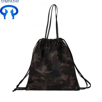 Customized lightweight waterproof nylon backpack drawstring
