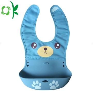 New Products Custom Double Material Silicon Baby Bibs