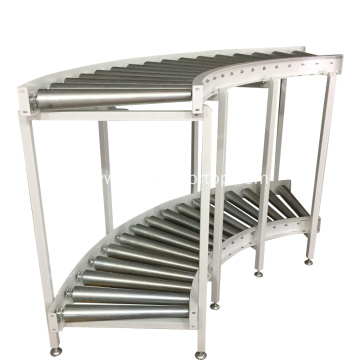 Customized Motorized 180 degree roller conveyor system