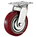 4'' Plate Swivel Heavy Duty PU Industrial Caster with PP Core