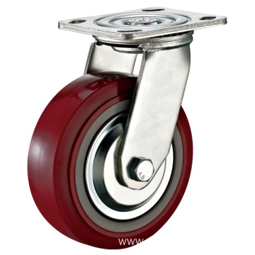 5'' Plate Swivel Heavy Duty PU Industrial Caster with PP Core