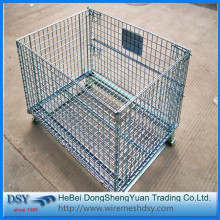 Galvanized Metal Containers Wire Mesh Storage Cages