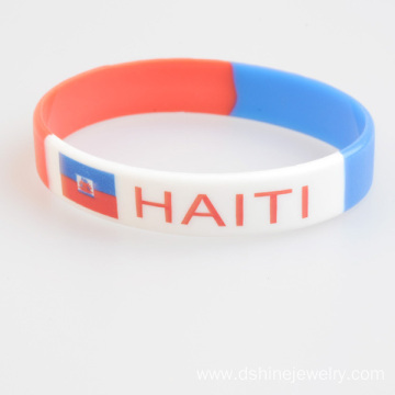 Factory wholesale price for Custom Silicone Bracelets Elasticity Silicone Bands Printed Pattern Silicone Bracelet export to Croatia (local name: Hrvatska) Factory