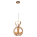Nordic vintage glass ball bulb shade pendant lamp