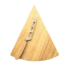 Simple oak triangle cheese board