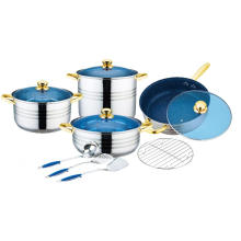 12 Pieces Stainless Steel Capsulated Bottom Cookware Set