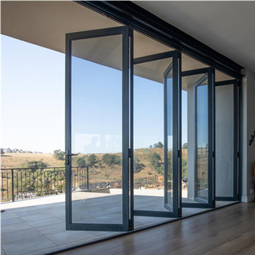 Lingyin Construction Materials Ltd Simple design House building aluminium folding sliding glass doors