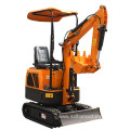 Small mini excavator digging for sale