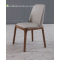 Simple Solid Wood Dinning Chiar With Leather Cushion