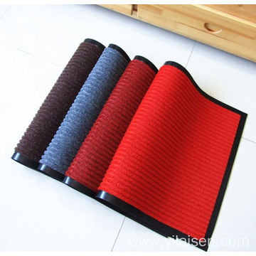 All season plastic backing ribbed entrance mat