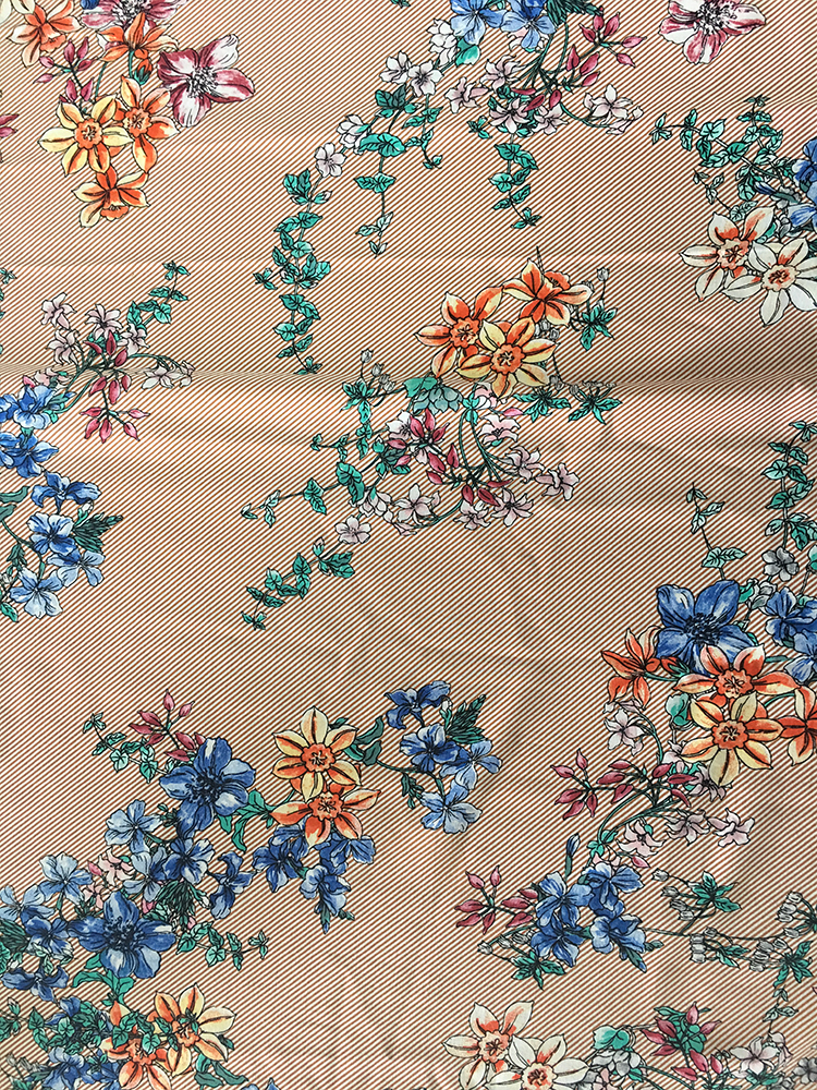 Lines Design Rayon Poplin 45S Light Printing Fabric