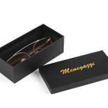Black Custom Logo Cardboard Paper Glasses Packaging Boxes