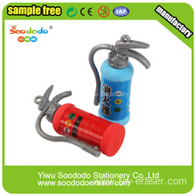 Red Fire Extinguisher Shaped Eraser,3d cute eraser