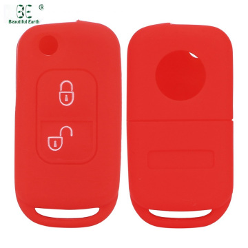 Fold Silicone Car Key Protective Cover For Benz