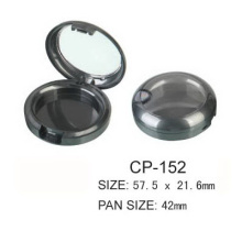Round Cosmetic Compact With Clear Lid