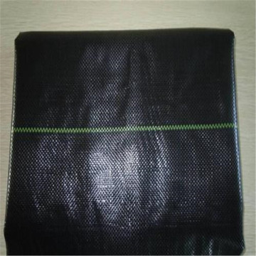 Black PP woven weed control fabric for agriculture
