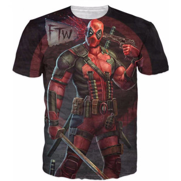 Cheap Polyester Short Sleeve Spiderman 3D Printed T shirts