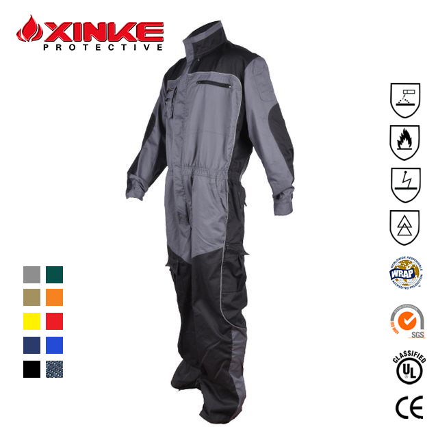 OEM wholesale advanced cotton flame retardant uniform smocks