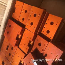 Saw Cutting orange-red phenolic bakelite laminated sheets