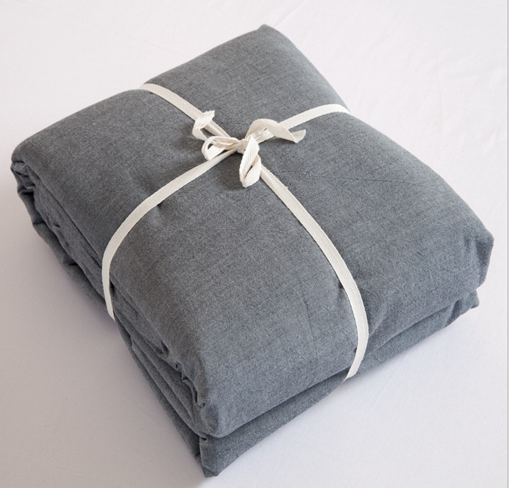 linencotton flat sheet grey