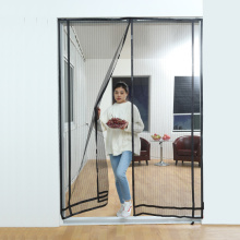 White Magnetic Mosquito Fly Mesh Door Curtain