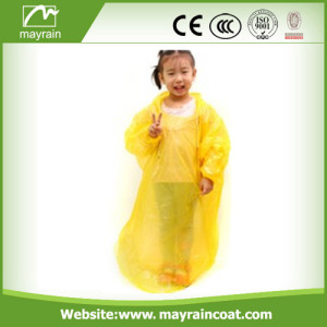 Yellow PE Raincoat for Kids