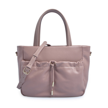 Mercer Pebbled Leather Top Handle Flap Tote Bag