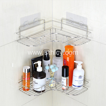 Stainless steel heart-shaped corner rack