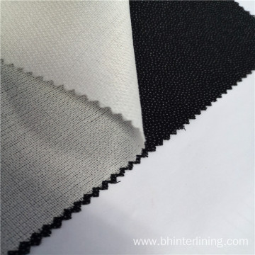 Woven fusible shirt interlining fabric for collar placket