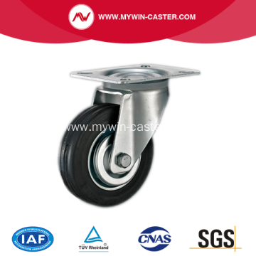 6 Inch Plate swivel Rubber Industrial Caster Wheel