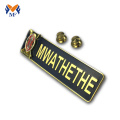3D embossed custom metal logo name badge