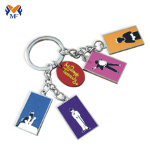Metal custom name logo friendship keychain